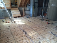 Decking that is laid over the sub-floor supports
